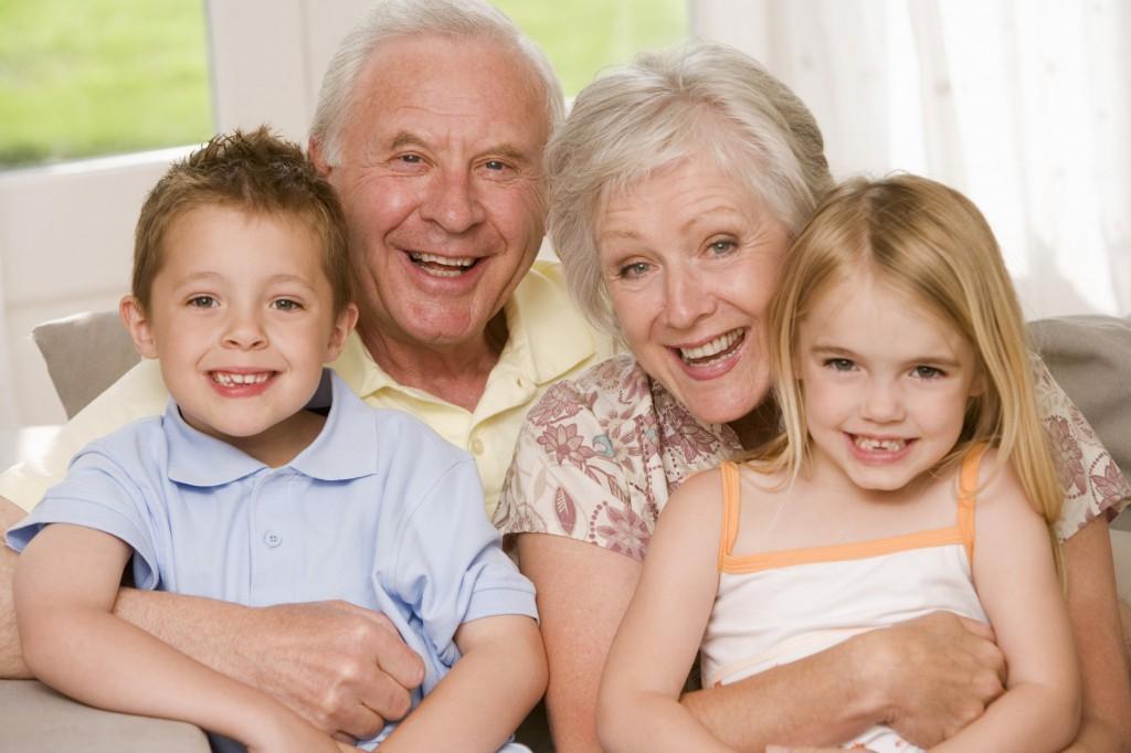 Portrait of grandparents and grandchildren